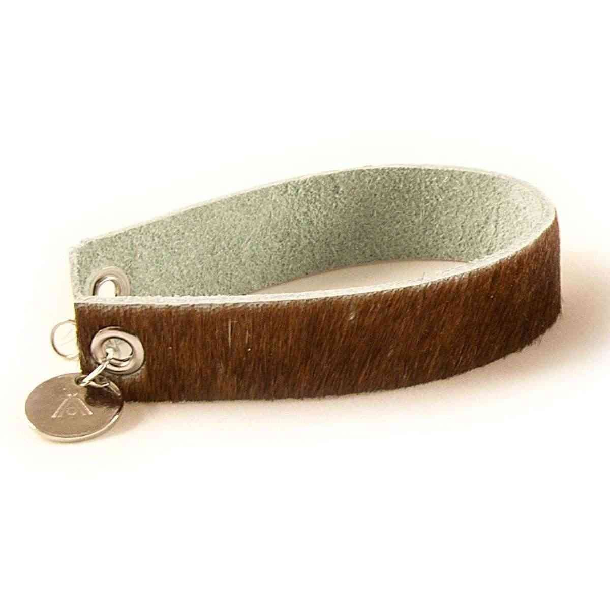 Wrips - Cow Print - Single Wrap Bracelet - Cow Print Brown