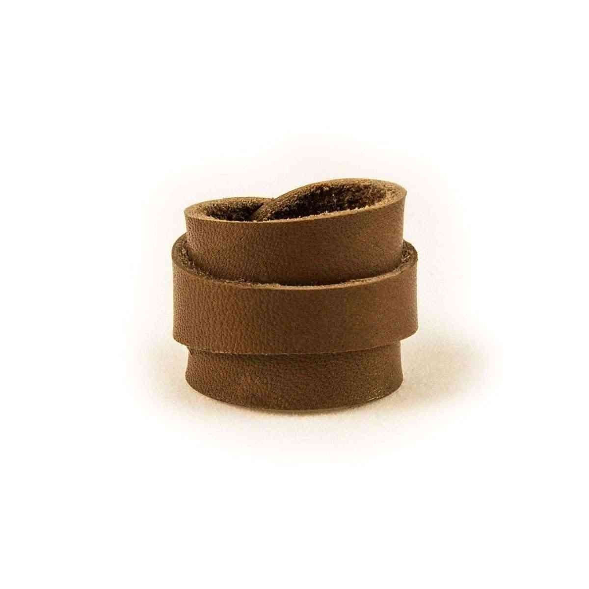 Leather Ring Dark Brown Back