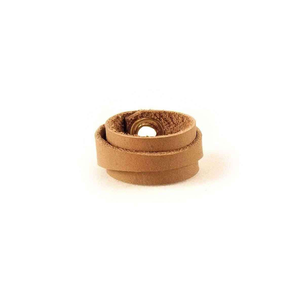 Leather Ring Slim Brown Back