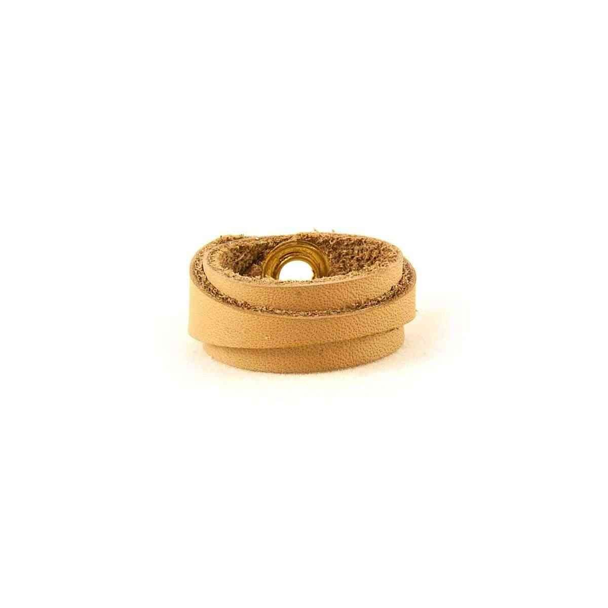 Leather Ring Slim Light Brown Back
