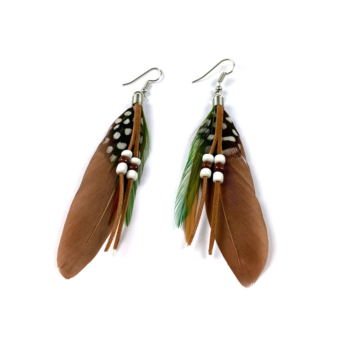 Feather Beads Earring