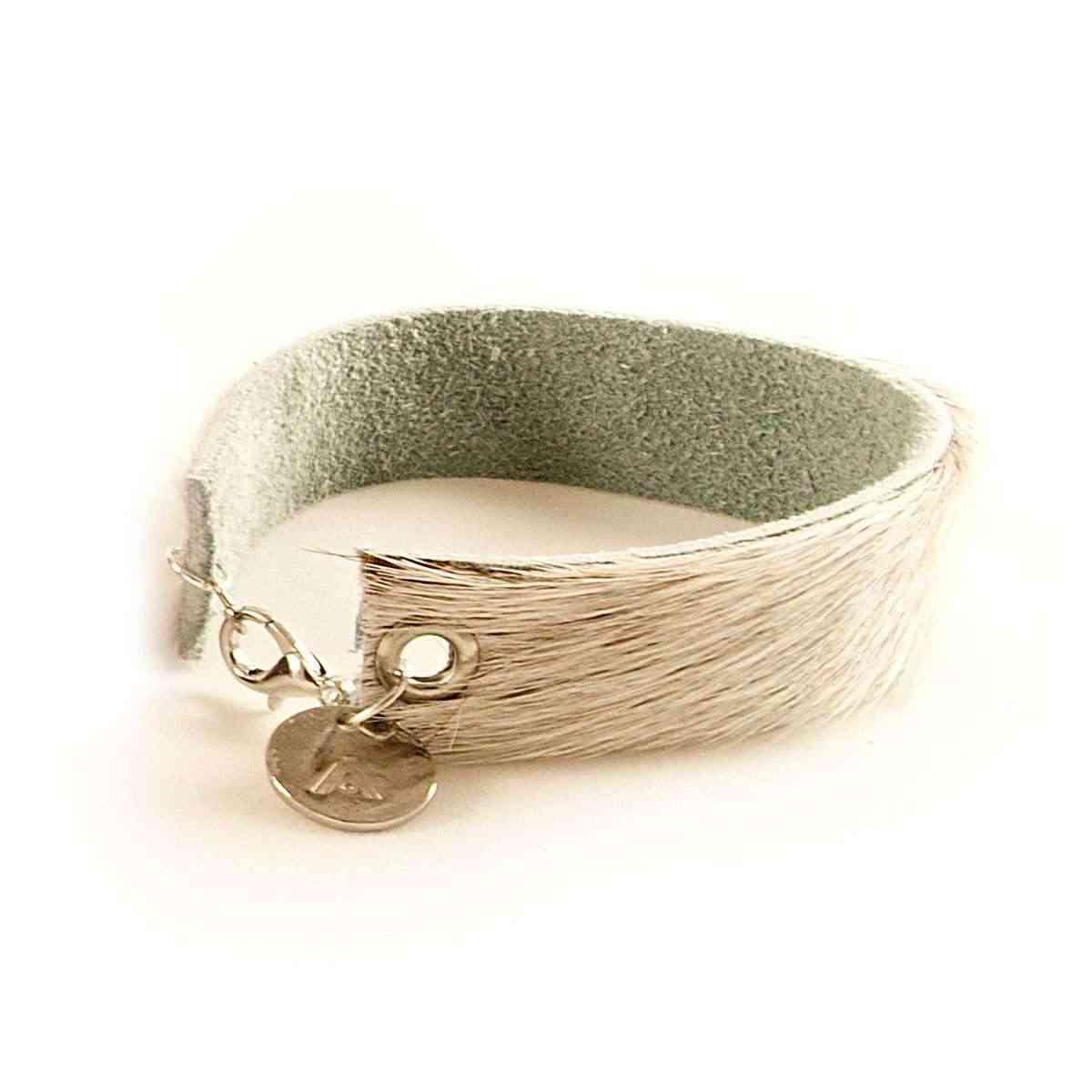 Wrips - Cow Print - Single Wrap Bracelet White
