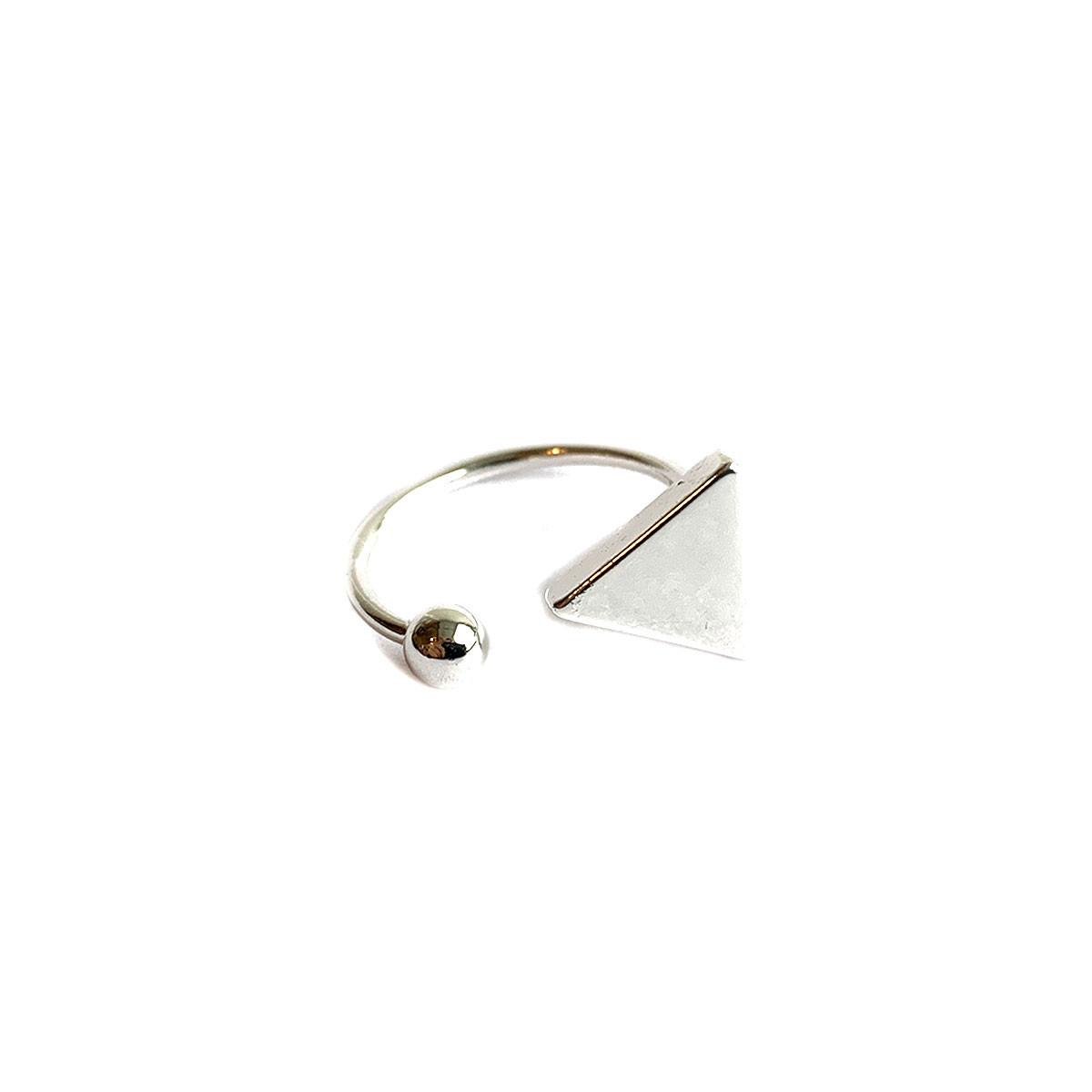 Triangel Ring Zilver