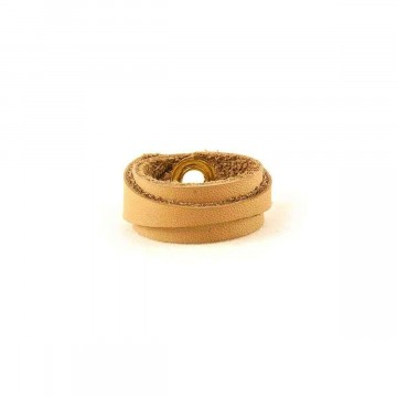 Leather Ring Slim Light Brown Back