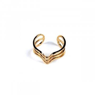 Sound Wave Ring Gold