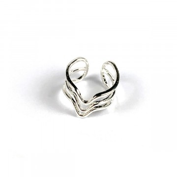 Sound Wave Ring Silver