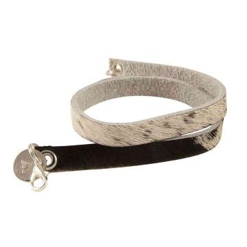 Wrips - Cow Print - Double Wrap Bracelet Mixed
