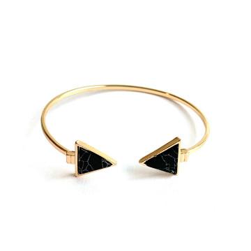 Stone Triangle Bracelet