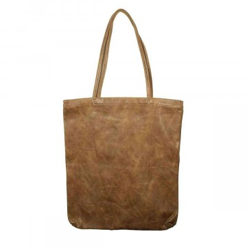 Leather Tote Bag Brown Large