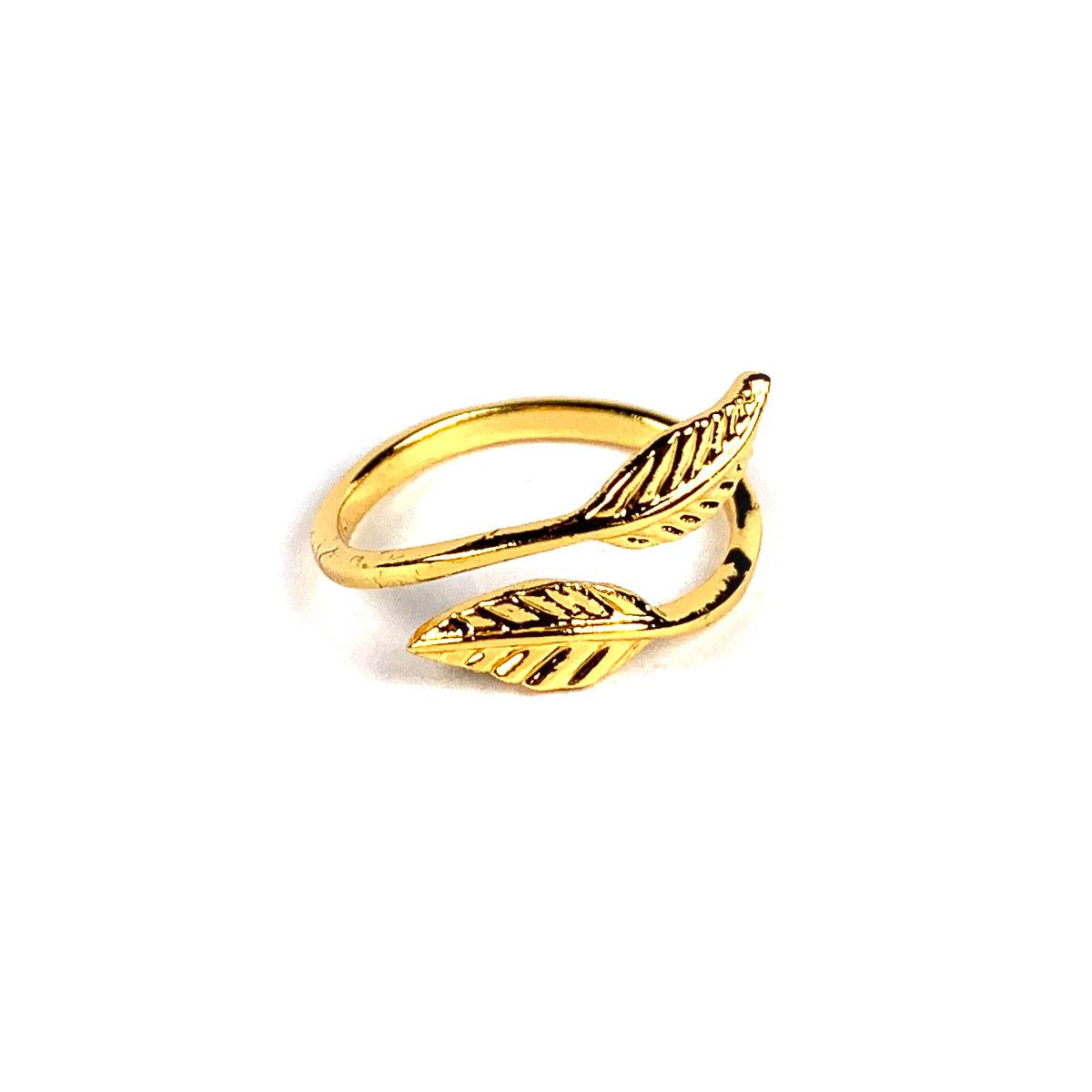 Blad Ring Goud